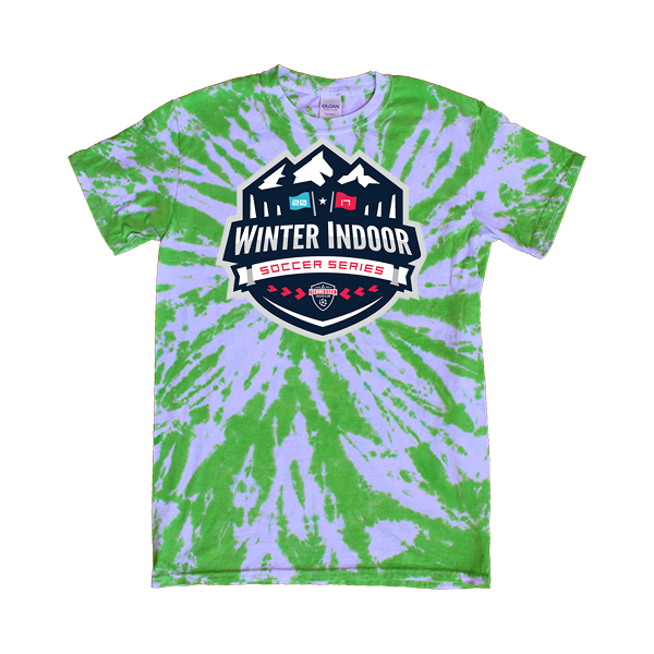 Green Tie-Dye T-Shirt Winter Indoor Tennessee Soccer Club