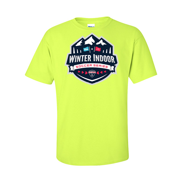 Neon Green T-Shirt Winter Indoor Tennessee Soccer Club