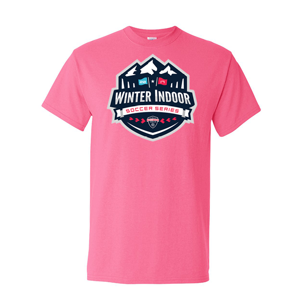 Neon Pink T-Shirt Winter Indoor Tennessee Soccer Club