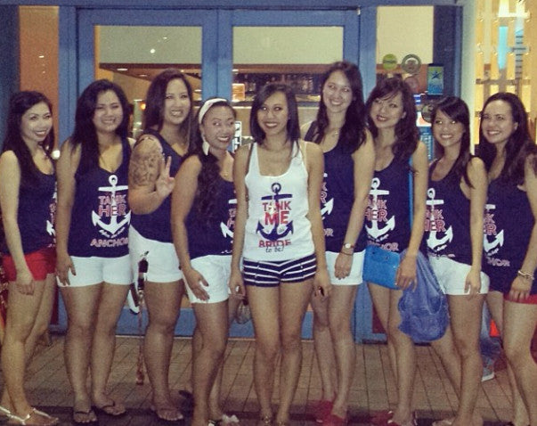 Bachelorette Cruise and Nautical Themed Tank Top Ideas for 2016