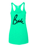 Bride tank top in mint color