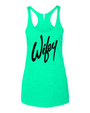 Wifey Tank top in mint color