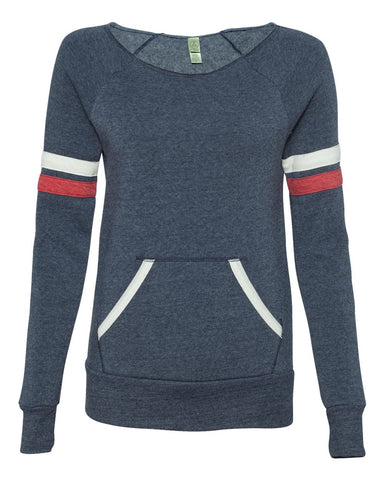 Women's Fleece Wideneck Sweater with front Pocket