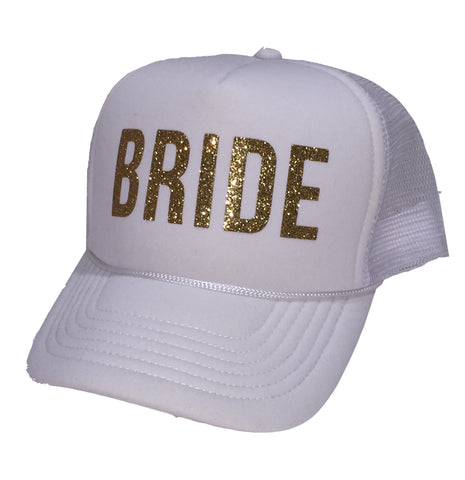 Bride Hat Glitter Trucker Cap for Bachelorette Parties