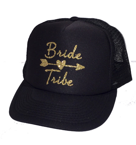 Bride Tribe Glitter Trucker Hat
