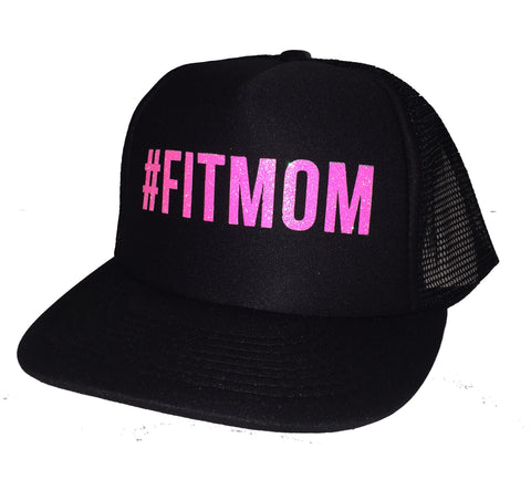 #FITMOM Fit Mom Pink Glitter Trucker Hats