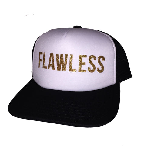 FLAWLESS Trucker Hat in Glitter Gold