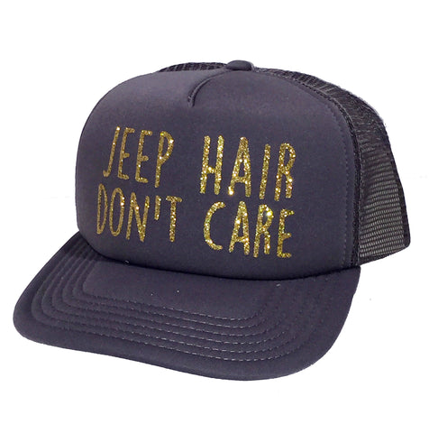 JEEP Hair Don't Care Glitter Trucker Hat