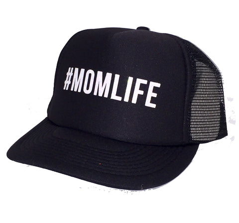#MOMLIFE Mom Life Glitter Trucker Hats
