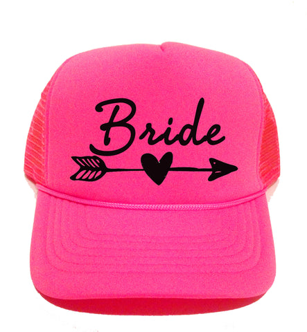 Bride Hat, Neon Trucker Cap for Bachelorette Parties