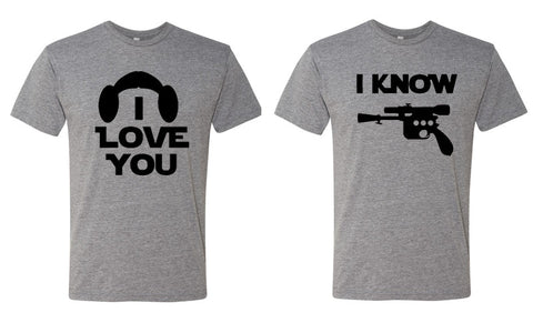 I Love You, I Know Couples Shirts