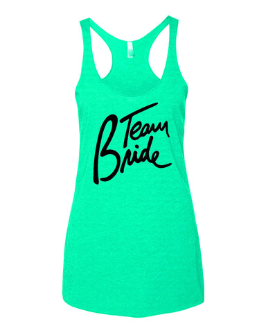 Team Bride Bridal or Bachelorette Tank Tops