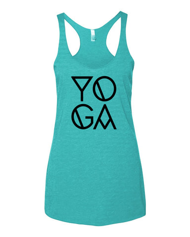 YOGA Racerback Triblend Tank Top