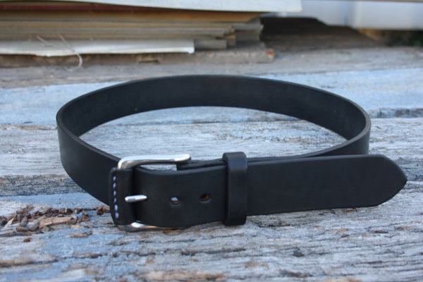 Stainless Steel West End Bridle Leather Belt