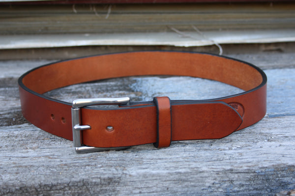 Stainless Steel West End Roller Bridle Leather Belt