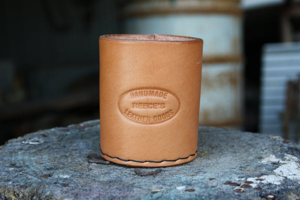 Leather stubby holder (natural)