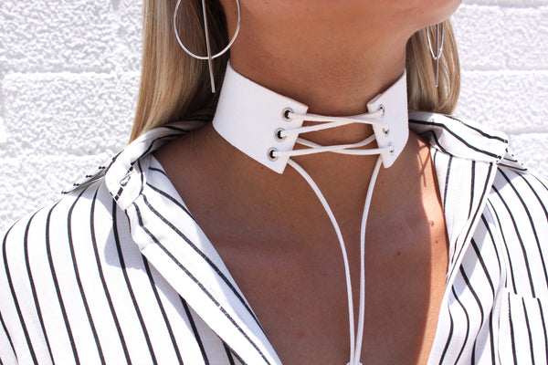 Ariana Choker White | Fashion Backroom