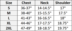 button up size chart nomad complex