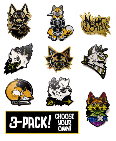 enamel pin nomad complex gold shiba inu ltyh listen to your heart logo predator furry apparel fursona
