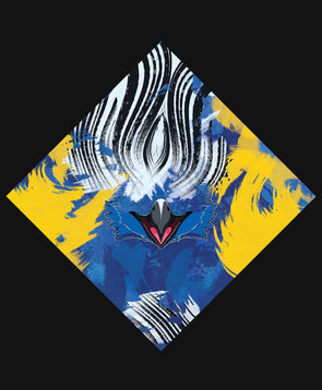 nomad complex avian macaw yellow blue bandanimal bandana animal face vancouver polyester colorful breathable apparel accessories