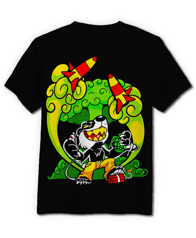 nomad complex badger explosion green yellow bomb tshirt cotton apparel crew cut vancouver