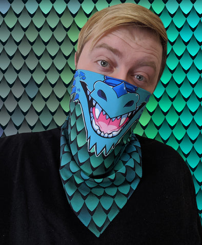 nomad complex dragon gradient green blue bandanimal bandana animal face vancouver polyester colorful breathable apparel accessories