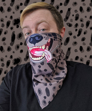 nomad complex hyena fur spots bandanimal bandana animal face vancouver polyester colorful breathable apparel accessories