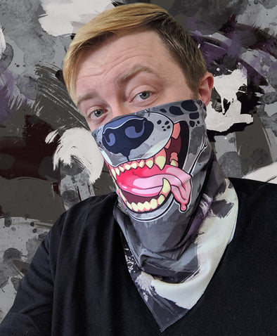 nomad complex hyena black white purple bandanimal bandana animal face vancouver polyester colorful breathable apparel accessories