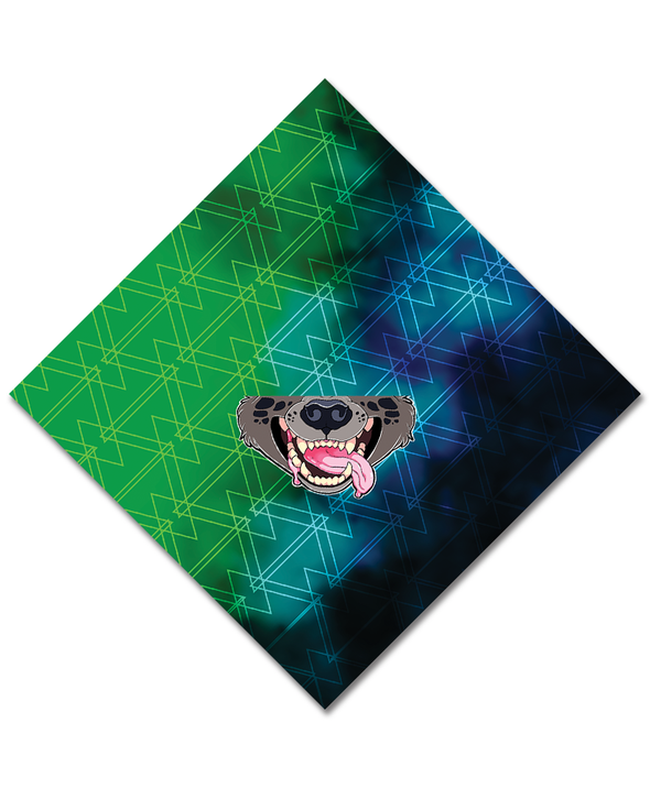 bandanimal nomad complex mask face cover covid hyena poison green blue furry apparel bandana