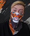 bandanimal nomad complex face mask cover covid tiger bengal cyber orange black furry apparel bandana