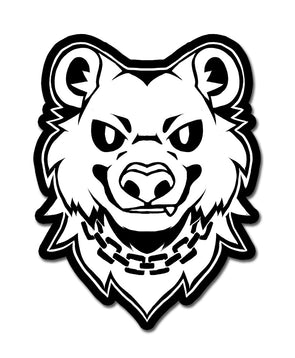 bear trap nomad complex sticker black white vinyl