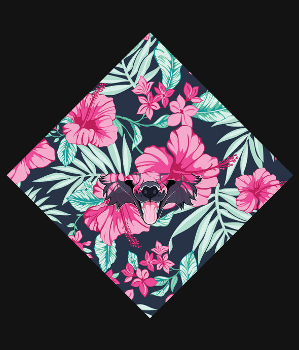nomad complex canine floral pink green bandanimal bandana animal face vancouver polyester colorful breathable apparel accessories