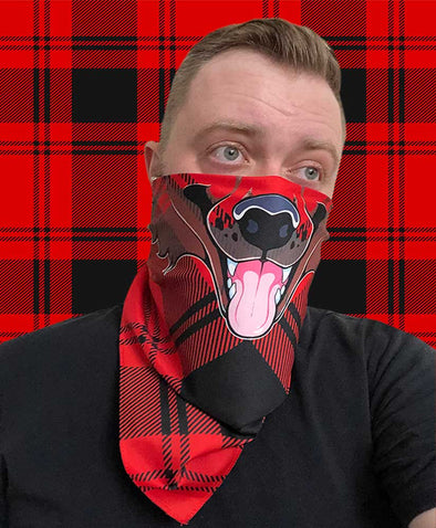 Bandanimals™ - Canine (Plaid Lad - Red)