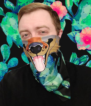 nomad complex coyote canine cactus bandanimal bandana animal face vancouver polyester colorful breathable apparel accessories