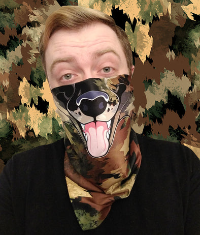 nomad complex canine camo camouflage bandanimal bandana animal face vancouver polyester colorful breathable apparel accessories