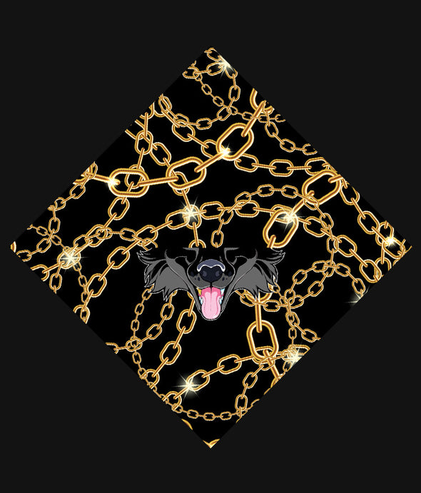 nomad complex canine gold chains bandanimal bandana animal face vancouver polyester colorful breathable apparel accessories