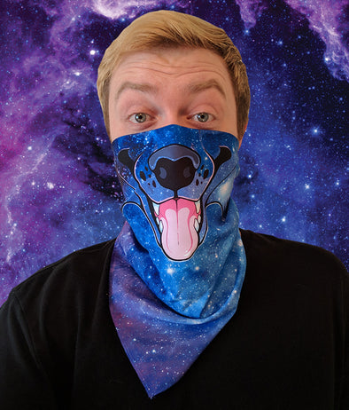 nomad complex canine galaxy bandanimal bandana animal face vancouver polyester colorful breathable apparel accessories