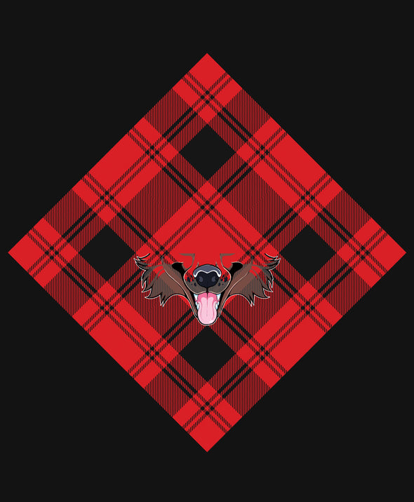 nomad complex canine dog plaid red bandanimal bandana animal face vancouver polyester colorful breathable apparel accessories