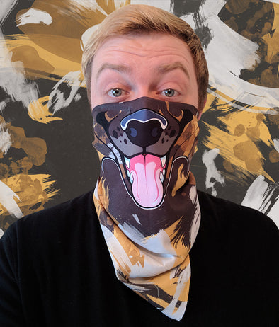 nomad complex wild dog fur AWD bandanimal bandana animal face vancouver polyester colorful breathable apparel accessories