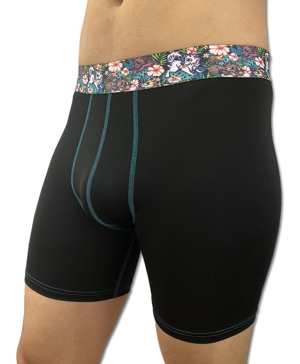 Canis Hibiscus - Printed Waistband (Boxer Briefs)