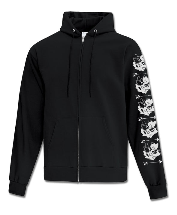 Content - Zip-Up Hoodie (Black)