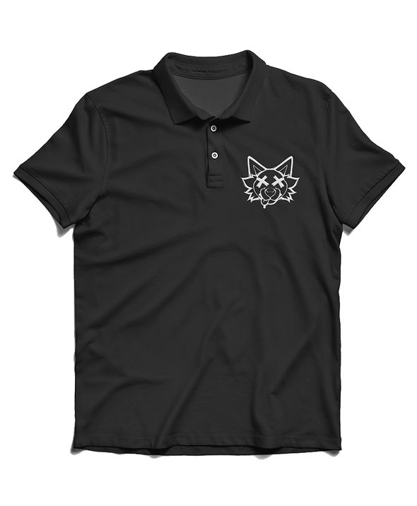nomad complex black polo dead doggo tiredAF furry apparel furry clothing embroidery