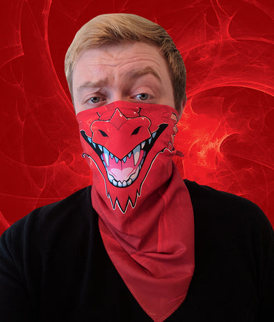 nomad complex dragon red bandanimal bandana animal face vancouver polyester colorful breathable apparel accessories