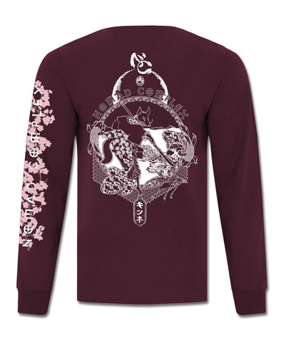 Edo - Long Sleeve T-Shirt (Maroon)