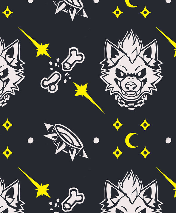 underwear trunks nomad complex howl full moon wolf werewolf stars moon bone undies meundies furry apparel fursona wolf