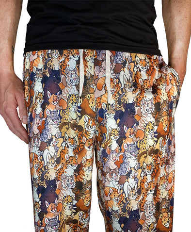 lounge pants good cats kitty tiger leopard lynx lion nomad complex furry apparel fursona