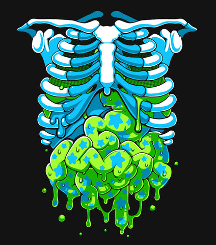 Candy Gore - T-Shirt (Blue/Green)