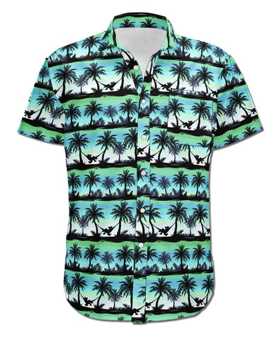 Hangin' Out - Button-up T-Shirt