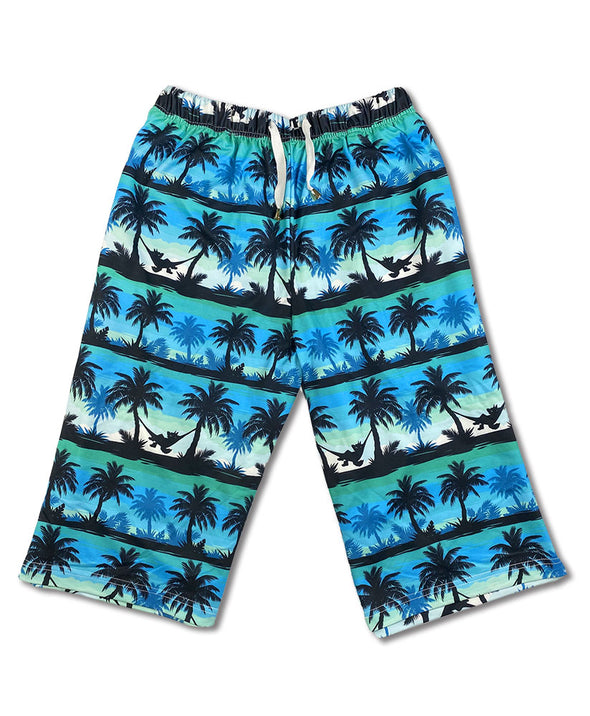 lounge pants hanging out tropical hammock palm tree blue green nomad complex furry apparel fursona