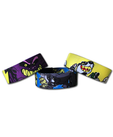 Here Comes Trouble Wristband Pack of 3
